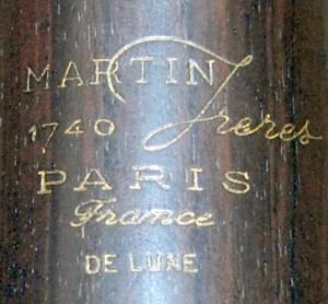 1740 Deluxe maker's mark
